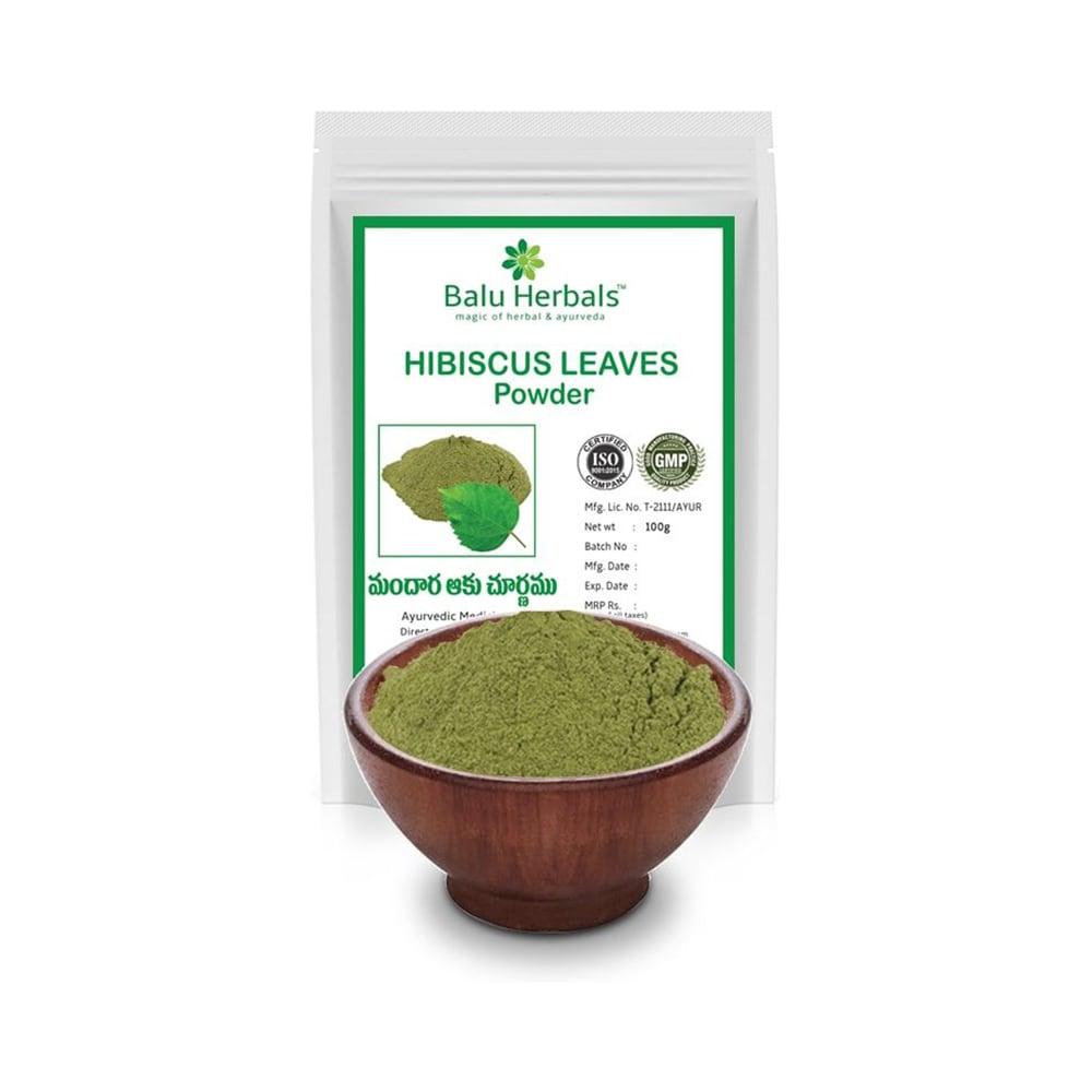 Balu Herbals Hibiscus Leaves Powder Buy 100 Gm Powder At Best Price