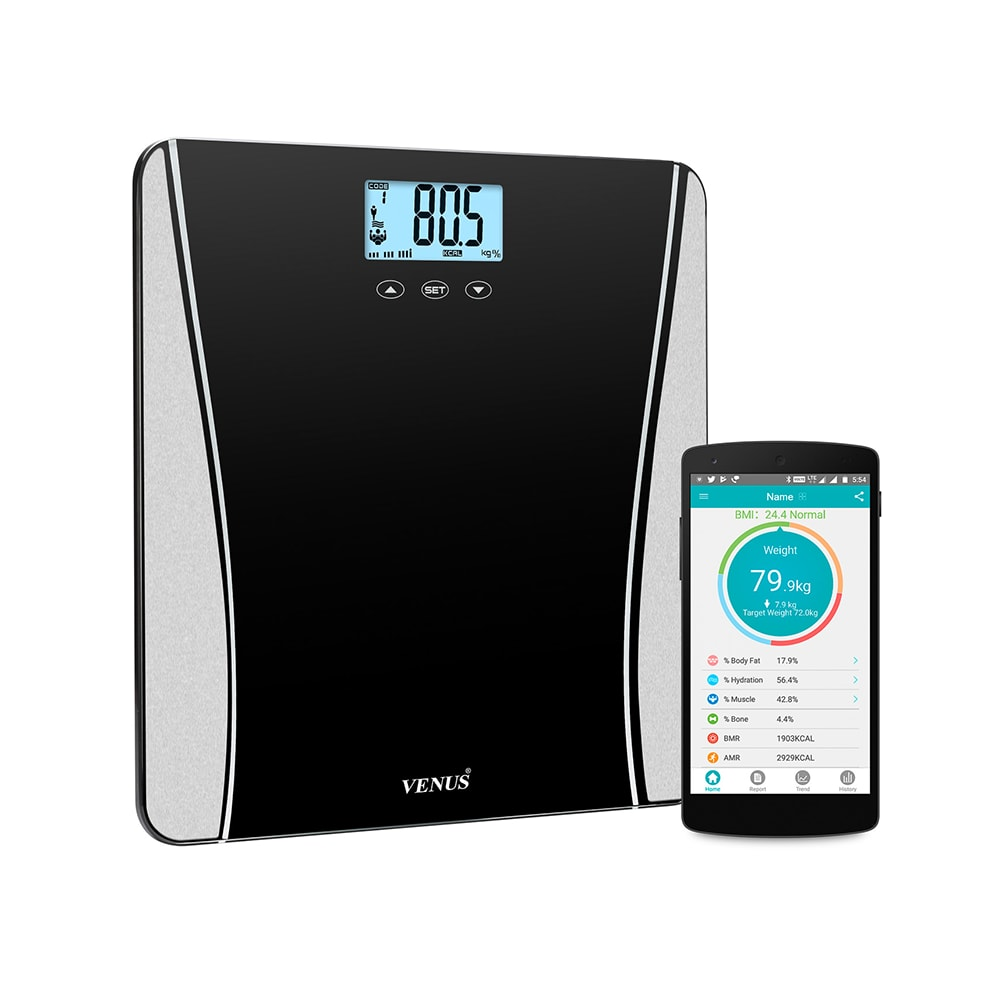8feabc1be7 Venus digital lcd weighing scale bluetooth bmi glass  buy 1 device at best  price in india