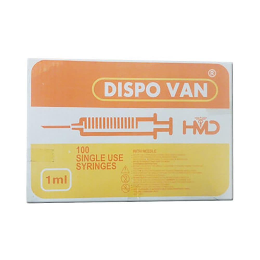 Dispovan 1ml Syringe with 26G Needle