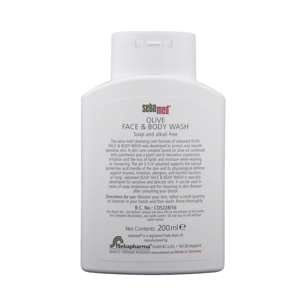 Sebamed Olive Face Body Wash Buy 200 Ml Liquid At Best Price In India 1mg