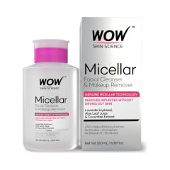 Wow skin science micellar facial cleanser & makeup remover: buy 180 ml cleanser at best price in india | 1mg