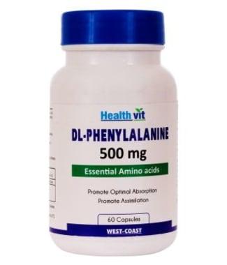 HealthVit DL-Phenylalanine 500mg  Capsule
