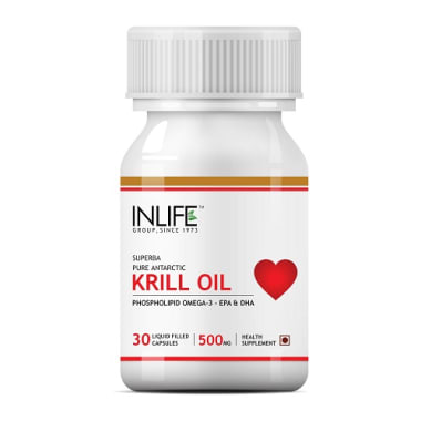 Inlife Krill Oil Omega 3 Fatty Acid 500mg Capsule