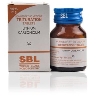 SBL Lithium Carbonicum Trituration Tablet 3X