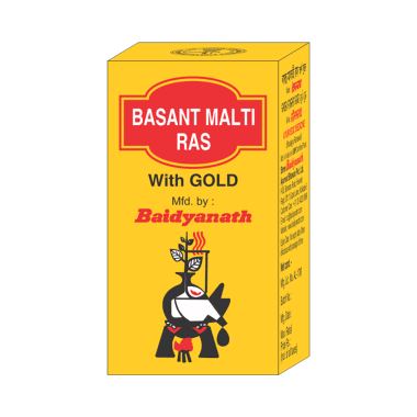 Baidyanath Basant Malti Ras with Gold Tablet