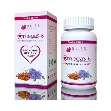 Bliss Welness Cardio Bliss + Omega 3 6 9 Softgel