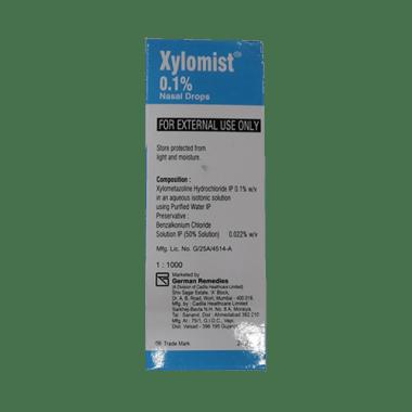 जायलोमिस्ट 0.1% नेज़ल ड्रॉप्स
