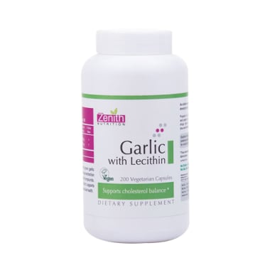Zenith Nutrition  Garlic with Lecithin  Capsule