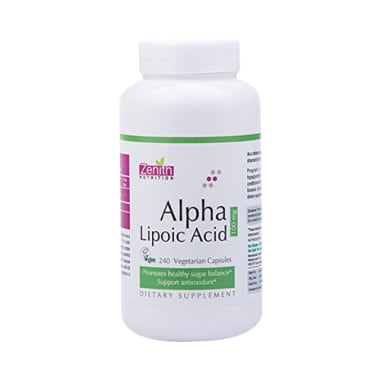 Zenith Nutrition Alpha Lipoic Acid 100mg Capsule