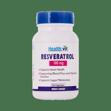 HealthVit Resveratrol 100mg Capsule