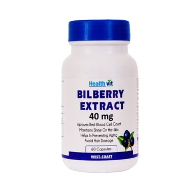 HealthVit Bilberry Extract 40mg Capsule