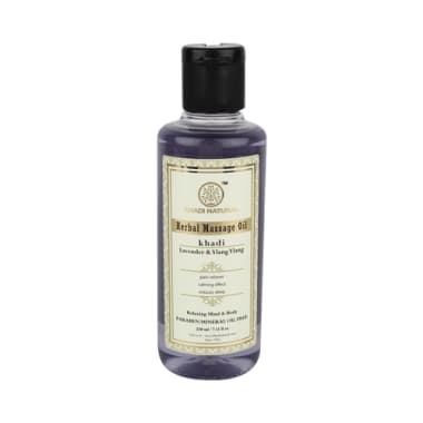 Khadi Naturals Herbal Massage Oil Lavender and Ylang Ylang