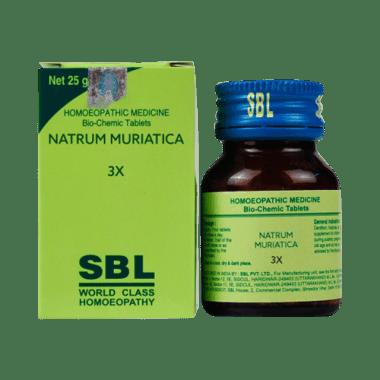 SBL Natrum Muriaticum Biochemic Tablet 3X