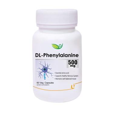 Biotrex DL-Phenylalanine 500mg Veg Capsule