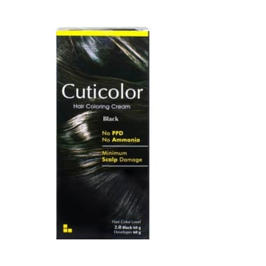 Cuticolor Hair Coloring Cream Black