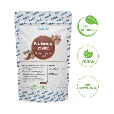 HealthVit Natural Nutmeg (Myristica fragrans Hoot) Powder