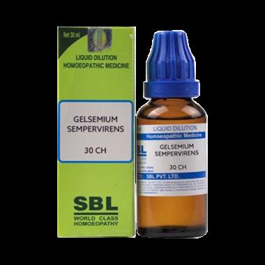 SBL Gelsemium Sempervirens Dilution 30 CH