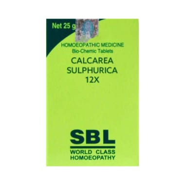 SBL Calcarea Sulphurica Biochemic Tablet 12X