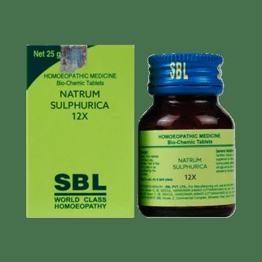 SBL Natrum Sulphurica Biochemic Tablet 12X