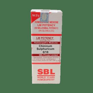 SBL Chininum Sulphuricum 0/18 LM