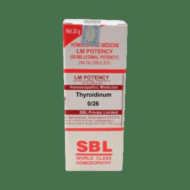 SBL Thyroidinum 0/26 LM