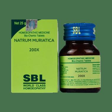 SBL Natrum Muriaticum Biochemic Tablet 200X