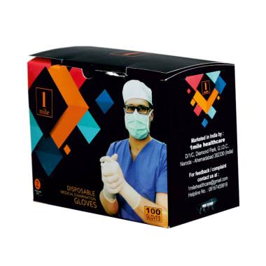 1Mile डिस्पोज़ेबल मेडिकल एग्जामिनेशन ग्लव स्मॉल