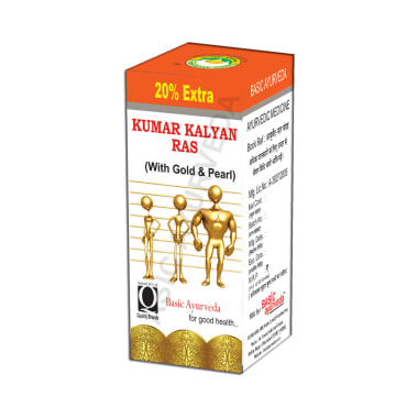 Basic Ayurveda Kumar Kalyan Ras with Gold & Pearl