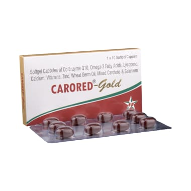 Carored-Gold Soft Gelatin Capsule