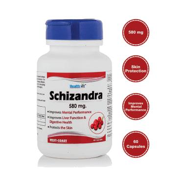HealthVit Schizandra 580mg Capsule