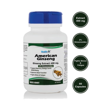 HealthVit American Ginseng Extract 400mg Capsule