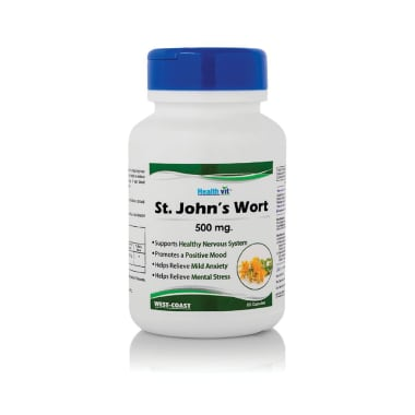 HealthVit St. John's Wort 500mg Capsule