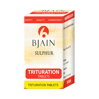 Bjain Sulphur Trituration Tablet 6X