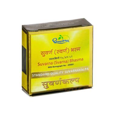 Dhootapapeshwar Svarna Bhasma Standard Quality Suvarnakalpa Tablet