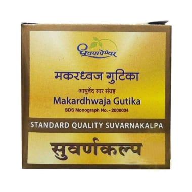 Dhootapapeshwar Makardhwaj Gutika Standard Quality Suvarnakalpa Tablet
