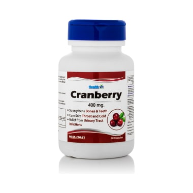HealthVit Cranberry Extract 400 mg Capsules for Fat Loss & Women Care