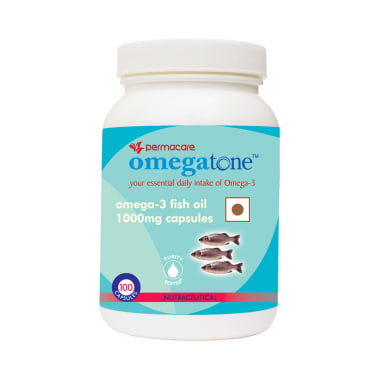 Permacare Omegatone 1000mg Natural Fish Oil Capsule