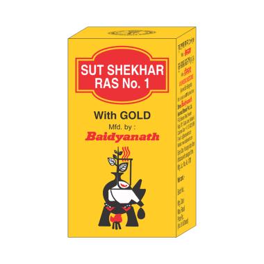 Baidyanath Sutshekhar Ras with Gold (Sw.Yu.)