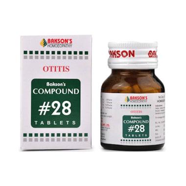 Bakson's Compound # 28 Otitis Tablet