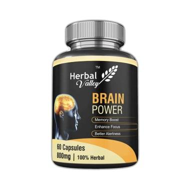 Herbal Valley Brain Power 800mg Capsule