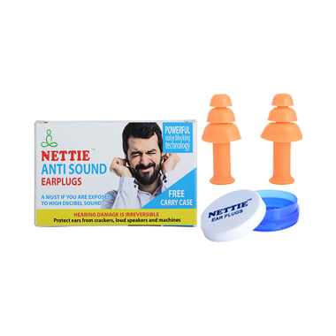 Nettie Anti Sound Earplugs with Free Carry Case Silicone