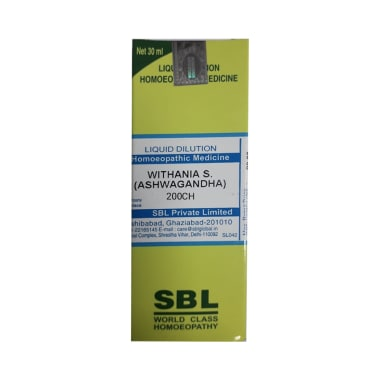 SBL Withania S (Ashwagandha) Dilution 200 CH