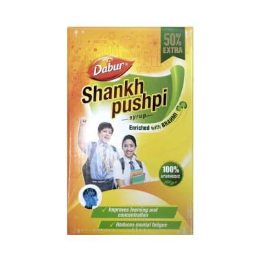 Dabur Shankhpushpi Syrup 225ml with 125ml Free