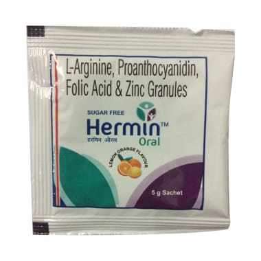 Hermin Oral Sachet Lemon Orange Sugar Free