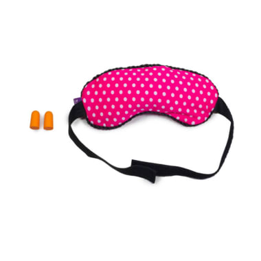 Viaggi Microbeads Eye Mask with Ear Plugs Pink