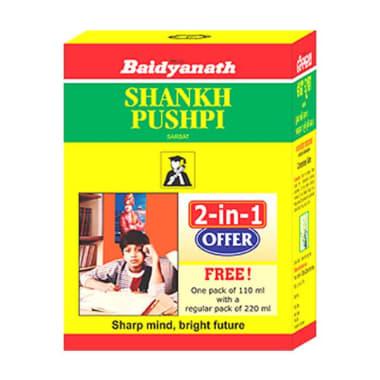Baidyanath Shankhpushpi Sarbat 2-in-1 Offer( 220 ml with Free 110ml)