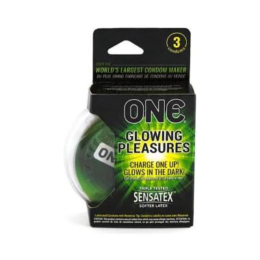 One Glowing Pleasures Condom
