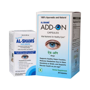 Combo Pack of Al-Shams Eye Drops 10ml & Add-On 30 Capsules