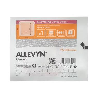 Allevyn Ag Gentle Border Dressing 7.5cm x 7.5cm Classic