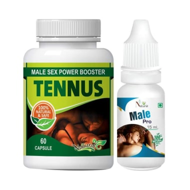 Natural Combo Pack of Tennus 60 Capsules & Male Pro 15ml